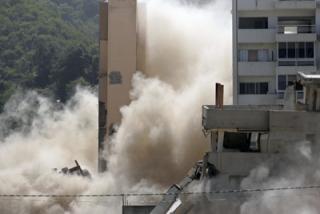 Los edificios se mantenían inhabitables desde la tragedía de Vargas en 1999 (Nicola Rocco)