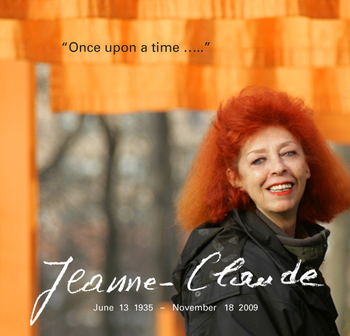 Jeanne-Claude, 74, American artist and resident of New York City, died suddenly November 18, 2009
