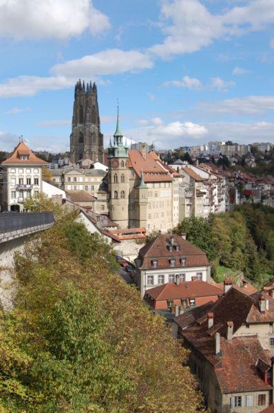Vista de la ciudad de Friburgo.  Foto:  Wikipedia