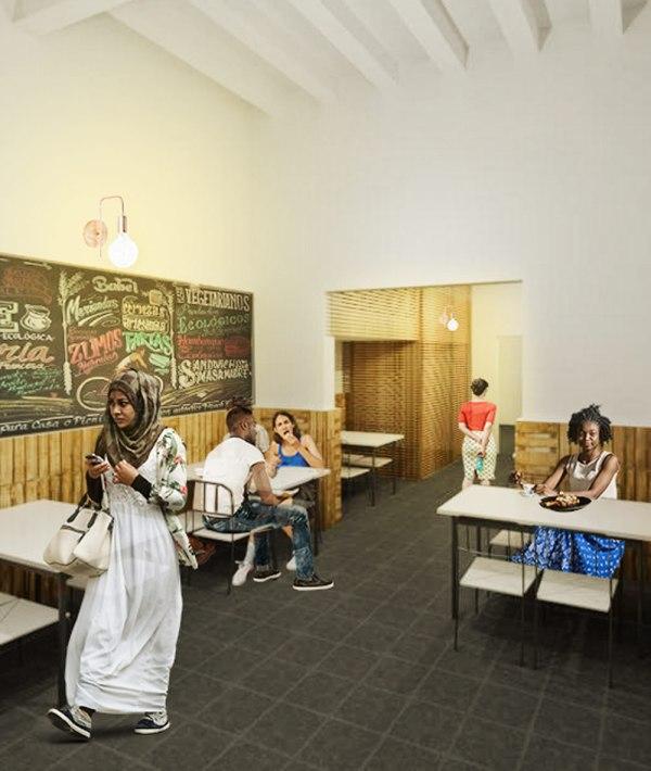 reforma local cooperación raval sostenible arquitopia barcelona
