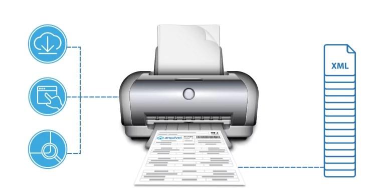 Como imprimir DANFe online