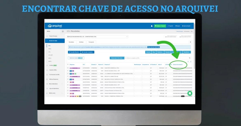 CHAVE DE ACESSO ARQUIVEI