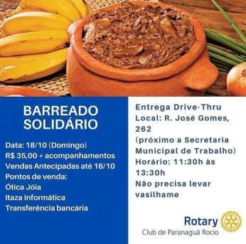 Rotary Club de Paranaguá Rocio promove barreado solidário neste domingo 2