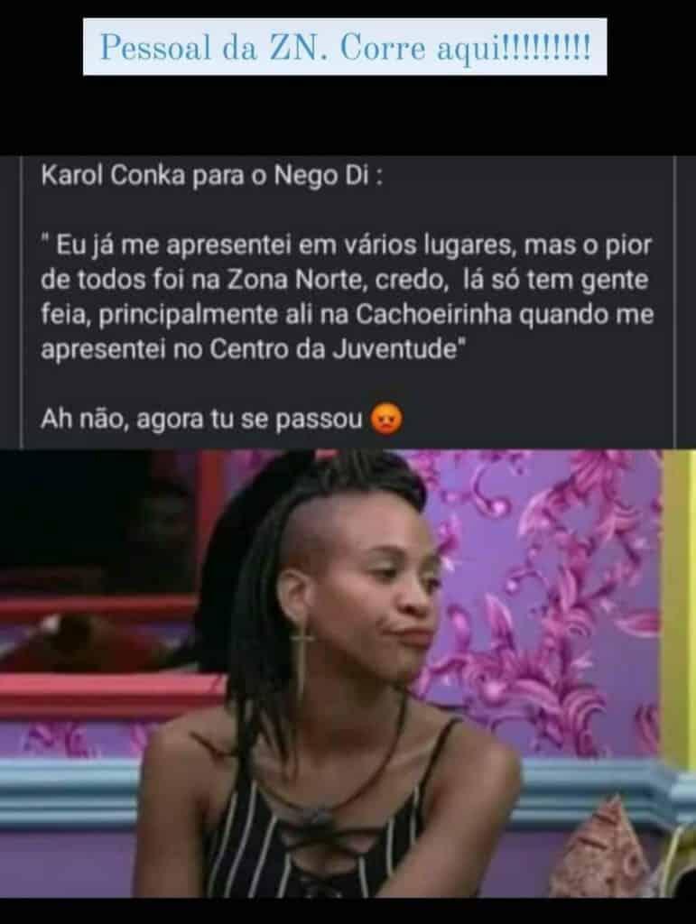 Decepção do BBB 21, Karol Conká é alvo de fake news envolvendo até Paranaguá 2