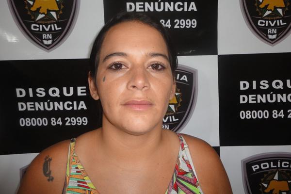 Maria Eduarda dos Santos Gomes, de 22 anos, acusada de homicidio