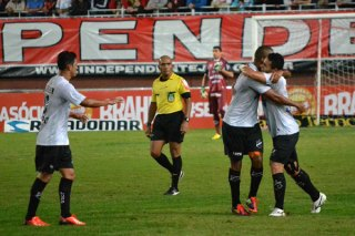 O atacante Rodrigo Silva voltou a mostrar que é artilheiro e fez o primeiro gol do ABC na partida