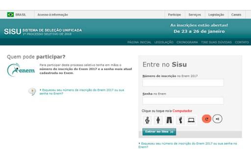 Inscrições estão sendo feitas em sistema online. Resultado do SiSU será divulgado na segunda (29)