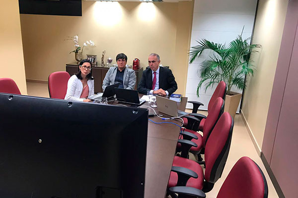 Presidente do TRE-RN, Glauber Rego participa de teleconferência com a presidente do TSE, Rosa Weber