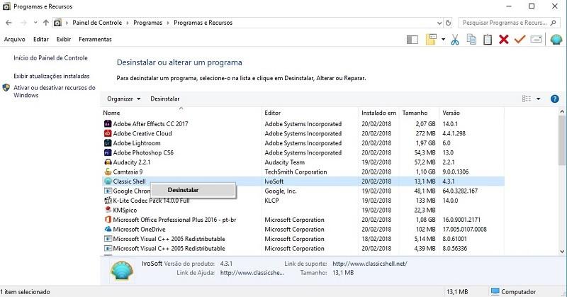 Como colocar o Menu Iniciar clássico no Windows 10 3