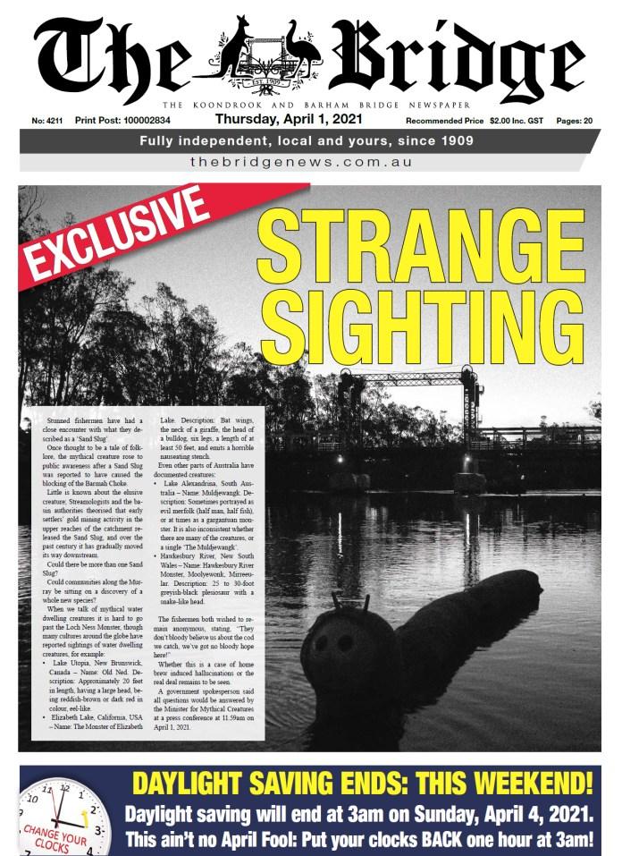The Koondrook and Barham Bridge Newspaper, 1 April 2021