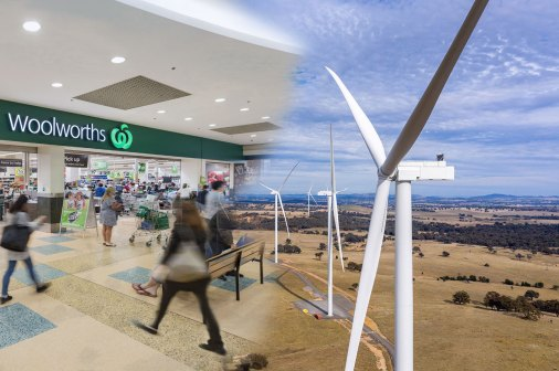 Woolworths and windfarm