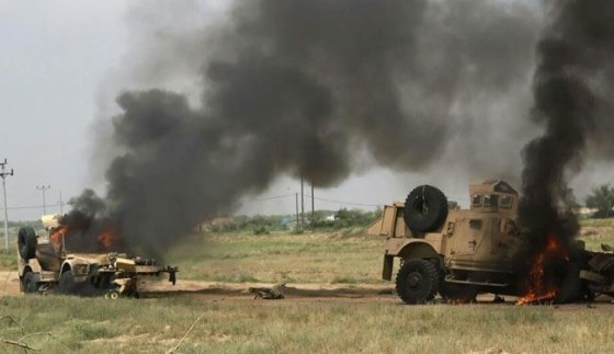 تصاویر منحصر به فرد از انهدام تانکهای سعودی