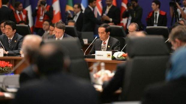 Jokowi di KTT G20 Turki