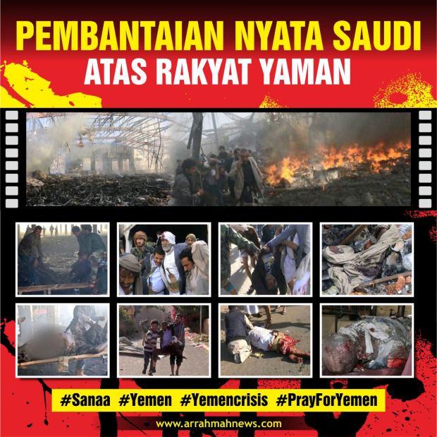 Pembantaian Nyata Saudi Atas Rakyat Yaman
