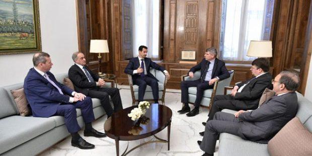 president-al-assad-belgian-delegation-1