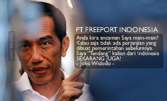 Jokowi Tendang Freeport