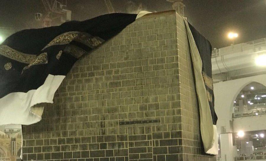 VIDEO: Kain Kiswah Ka'bah Tersingkap saat Badai Terpa Mekah