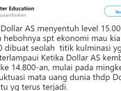 Dolar Anjlok