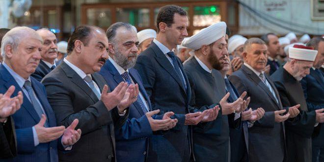 Bashar Assad Hadiri Peringatan Maulud Nabi di Masjid Damaskus