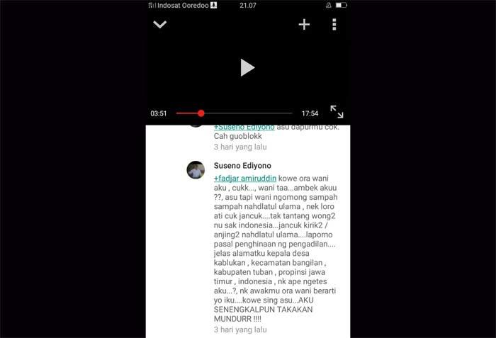 Screenshot Hate Speech