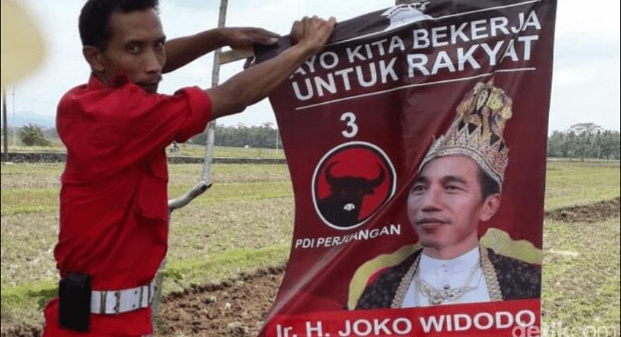HEBOH, Beredar Poster 'Raja Jokowi' di Jawa Tengah