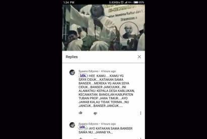 Screenshot Ujaran Kebencian