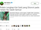 Kyai Said Aqil Siradj Diserang