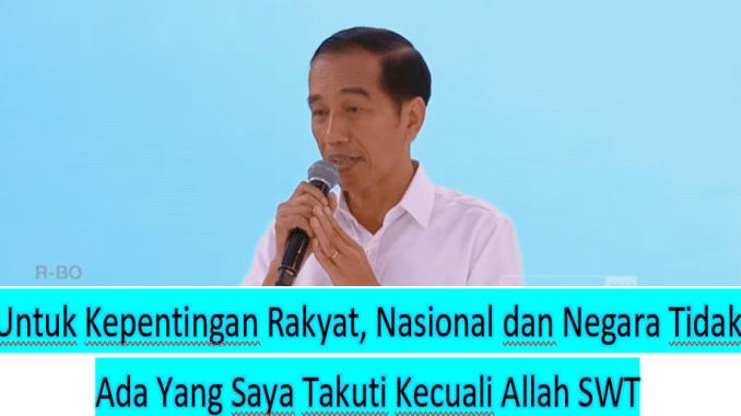 Statememn Berani Jokowi di Debat Capres 'Demi Kepentingan Rakyat Tidak Ada Satupun yang Saya Takuti Kecuali Allah SWT'