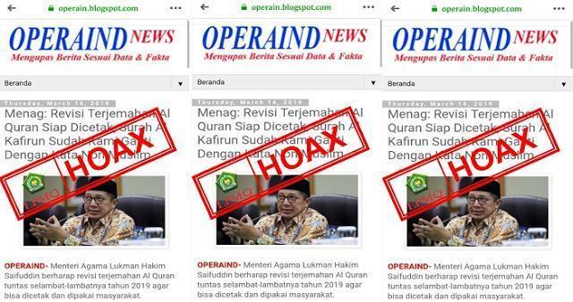 """Media Wahabi Fitnah Kemenag """"Surat Al-Kafirun Diganti Non Muslim"""""""