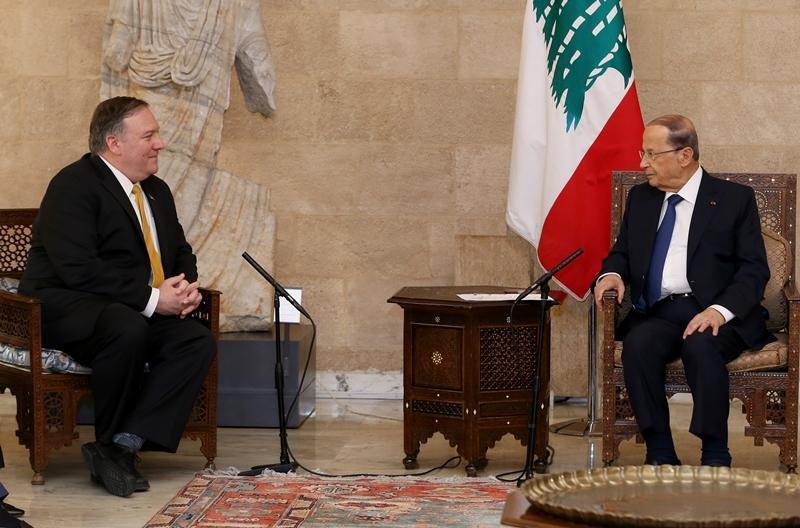 Presiden Lebanon Bela Hizbullah Habis-habisan di Hadapan Pompeo