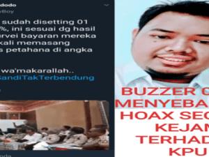 "Penyebar Hoaks ""Setting-an Server"" KPU Diduga Buzzer Kubu Prabowo"
