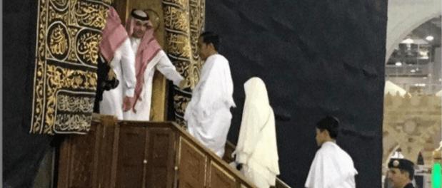 Luar Biasa! Presiden Joko Widodo dan Keluarga Masuk Ka'bah Saat Umroh