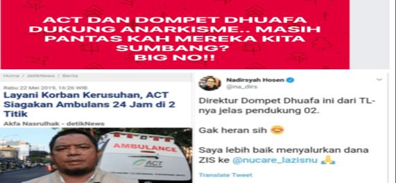 ACT dan Dompet Dhuafa