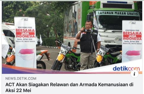 Denny Siregar: Kenapa ACT Turunkan Relawan Saat Aksi 22 Mei?