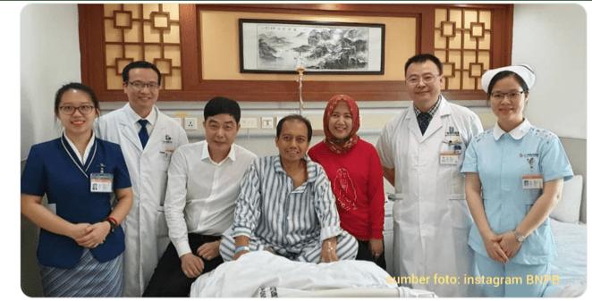 Almarhum Sutopo Purwo Nugroho Saat di Rumah Sakit