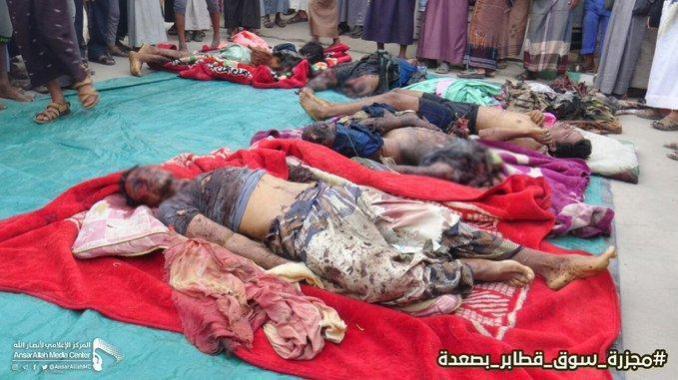 Mayat-mayat korban kekejian Arab Saudi