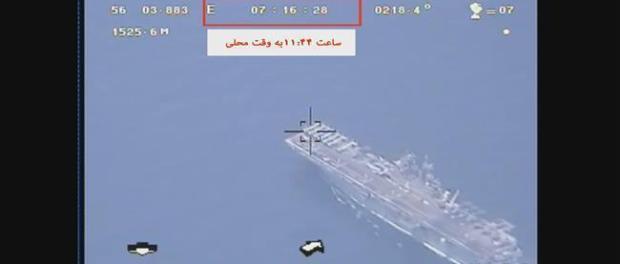 Rekaman Drone Iran dari atas Kapal Induk AS