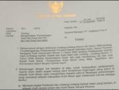 Surat Bupati Aceh Besar ke Angkasa Pura