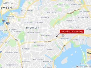 Map Lokasi Penembakan di Los Angeles
