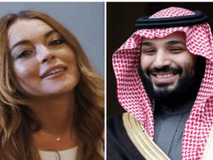 Foto Lindsay Lohan dan Putra Mahkota Arab Saudi