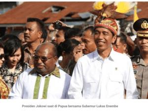 Jokowi dan Gubernur Papua