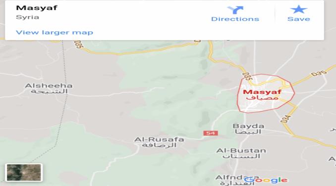 Map Masyaf Suriah