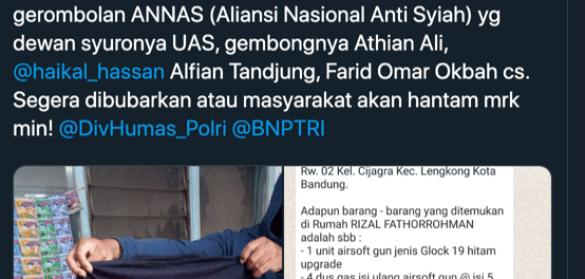 """Ada Nama """"ANNAS' dalam Rekam Jejak Terorisme di Indonesia"""