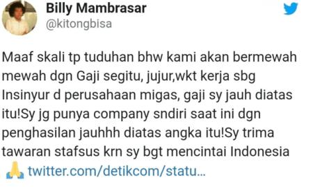 """Jawaban Menohok Stafsus Jokowi Soal Nyinyiran Fadli Zon """"Cuma Pajangan dan Lipstick Saja"""""""
