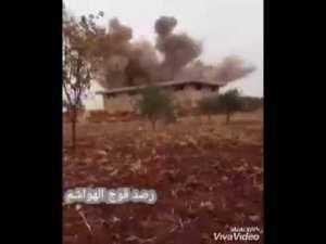 Detik-detik Markas Teroris Jabhat Nusra Diserang Jet Tempur Suriah