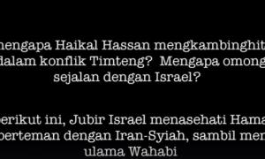 Tiru Zionis Cara Haikal Hassan Adu Domba Sektarian