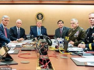 Gedung Putih Rilis Suasana Ruangan Trump Pasca Serangan Iran