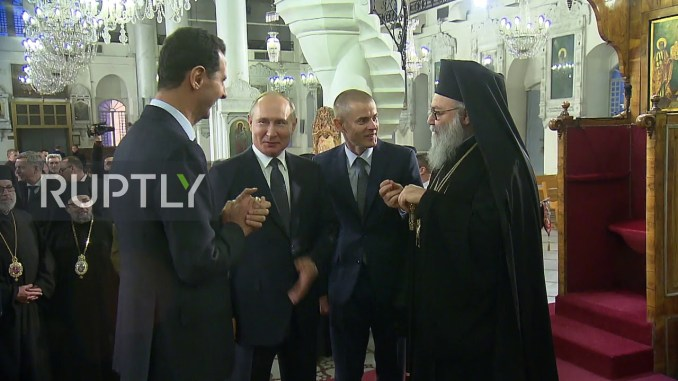 Video Candaan Putin ke Assad: Undang Trump Supaya Bertobat