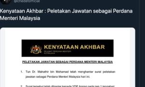 Mahathir Mohammad Mundur dari Perdana Menteri Malaysia