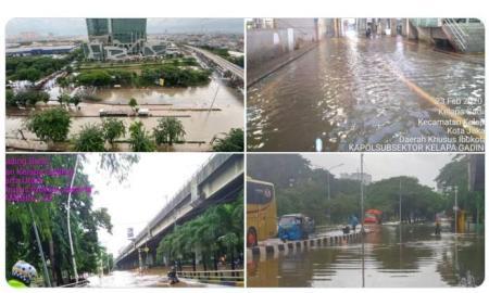 Jakarta Kebanjiran; 55 RW Terendam, Sejumlah Wilayah Padam